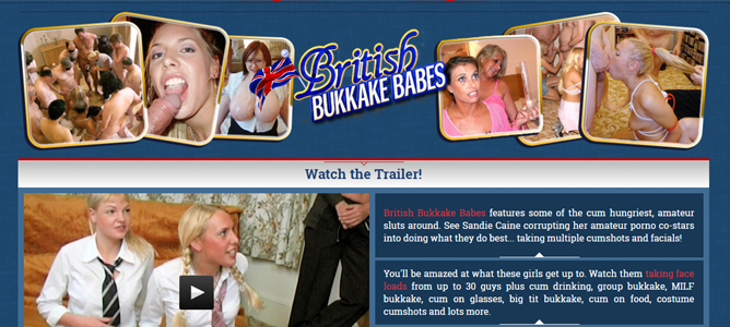 Cheap British sex site for bukkake videos