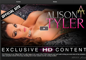 Great pay adult site for Alison Tyler fans.