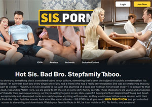 Excellent paid porn site with taboo content.