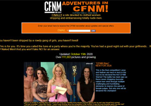 Top rated pay porn site with CFNM content.