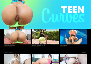 Teen Curves is a pay porn sites with thick ass booty girls